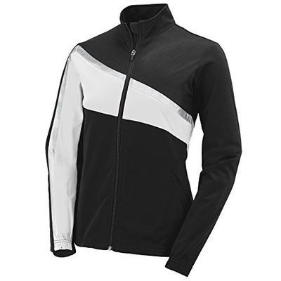 Augusta Sportswear Womens Aurora Jacket, Black/White/Metallic Silver, Small