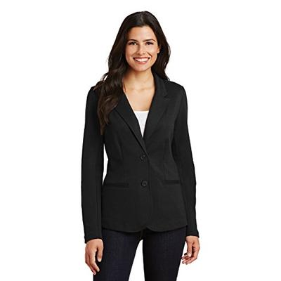 Port Authority Ladies Knit Blazer, Black, X-Small