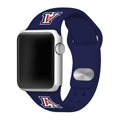 Affinity Bands Arizona Wildcats Silicone Sport Band Compatible with Apple Watch - 42mm/44mm Navy