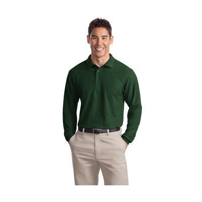 Port Authority Men's Long Sleeve Silk Touch XL Dark Green