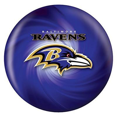 KR Strikeforce 2013 NFL Baltimore Ravens Bowling Ball, Purple/Black/Metallic Gold, 12 lb