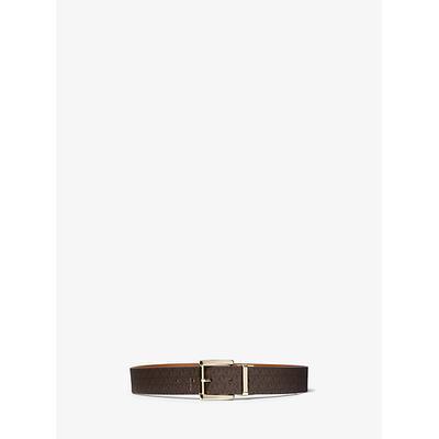 Michael Kors Reversible Logo and Leather Belt Brown M