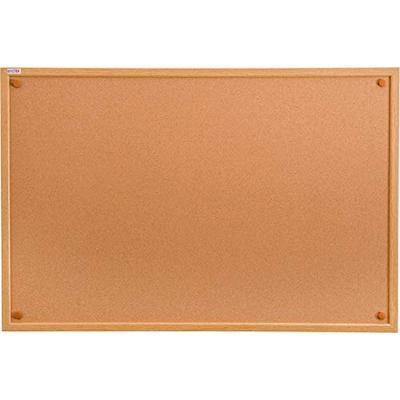 "Viztex, Premium Cork Bulletin Board with Oak Effect Frame, Size 24"" x 18"" (FCVCBB2418W)"