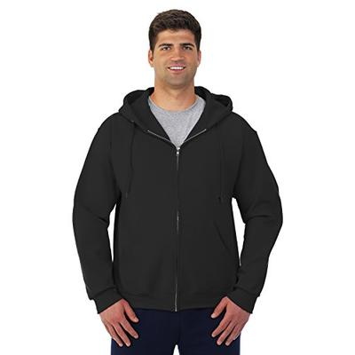 Jerzees Men's Full Zipper High Stitch Hooded Sweatshirt, Blk, Small