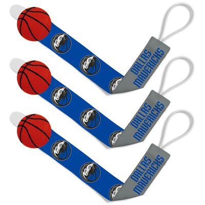 """""""Dallas Mavericks Infant 3-Pack Pacifier Clip Set"""""""