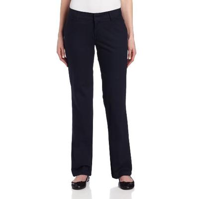 Dickies Women's Relaxed Straight Stretch Twill Pant, Navy, 18 Regular